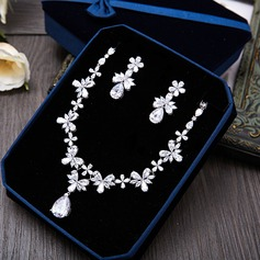 Shining Zircon Ladies' Jewelry Sets