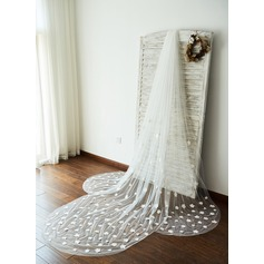 One-tier Cut Edge Cathedral Bridal Veils With Applique (006096135)