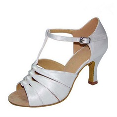 Women's Heels Sandals Latin With Ankle Strap Hollow-out Dance Shoes