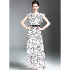 Chiffon With Print Maxi Dress (199126261)