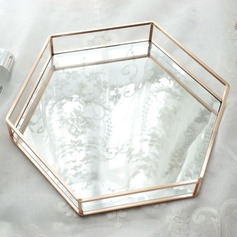 Fancy Alloy/Glass Ladies' Jewelry Box