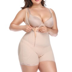 Women Classic/Casual Polyester/Cotton/Chinlon Butt Lift High Waist Bodysuit/Shorts Shapewear
