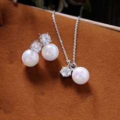 Beautiful Zircon/Imitation Pearls With Imitation Pearls Ladies' Jewelry Sets