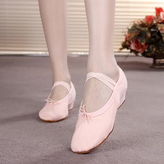 Kids' Canvas Flats Ballet Dance Shoes