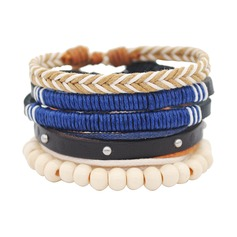 Wood Unisex Fashion Bracelets (Sold in a single piece)