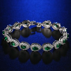 Chic Platinum Plated With Zircon Ladies' Fashion Bracelets (137144323)