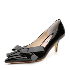 Women's Patent Leather Stiletto Heel Pumps With Bowknot shoes