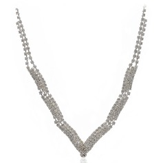 Elegant Alloy/Czech Stones Ladies' Necklaces