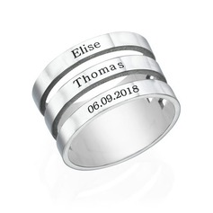 Personalized Couples' Classic S925 Sliver Rings For Bride/For Friends/For Couple