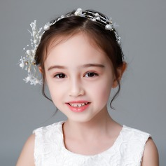 Kids Fashion Rhinestone/Alloy/Imitation Pearls/Silk Flower Tiaras With Rhinestone/Venetian Pearl (Sold in single piece)