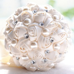 Round Satin Bridesmaid Bouquets