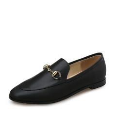 Women's Leatherette Flat Heel Flats Closed Toe With Chain shoes (086113603)