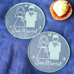 Bride and Groom coaster(set of 2pcs)