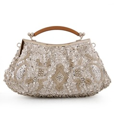 Cute Satin/Crystal/ Rhinestone/Metal/Rhinestone Clutches/Bridal Purse