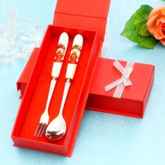 Bride & Groom Stainless Steel Spoon And Fork Set