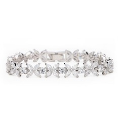 Christmas Gifts For Her - Cubic Zirconia Alloy Tennis Bridal Bracelets Bridesmaid Bracelets (106215271)