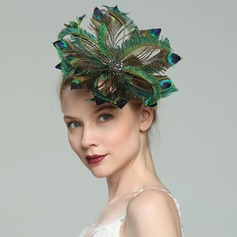 Dames Glamour/Élégante/Fantaisie Feather avec Feather Chapeaux de type fascinator (196171256)