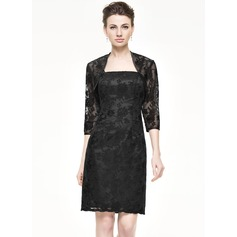 Sheath/Column Knee-Length Lace Mother of the Bride Dress