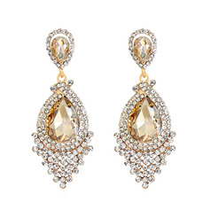 Elegant Alloy Rhinestone Earrings For Bride (011221136)
