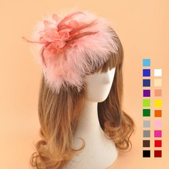 Damer' Elegant Batist med Fjäder Fascinators/Kentucky Derby Hattar