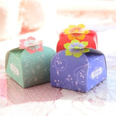 Flower Design Favor Boxes