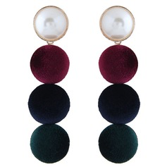 Fashional Alloy Imitation Pearls Cloth With Imitation Pearl Women's Fashion Earrings (Set of 2)
