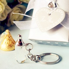 Baby bottle design key chain favors