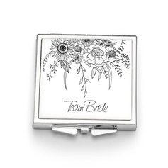 Bridesmaid Gifts - Personalized Attractive Simple Eye-catching Stainless Steel Compact Mirror