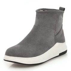 Women's Suede Flat Heel Wedges Boots Ankle Boots shoes
