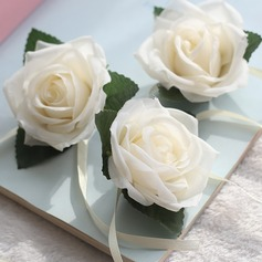 Free-Form Satin Wrist Corsage (Sold in a single piece) -