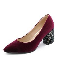 Femmes Suède Talon bottier Escarpins Bout fermé chaussures