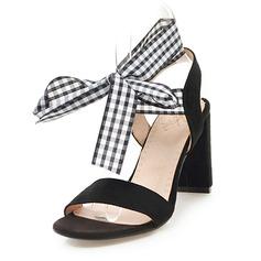 Femmes Suède Talon bottier Sandales Escarpins avec Dentelle chaussures