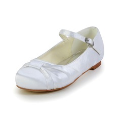 Girl's Shoes Flats Round Toe Closed Toe Flat Heel Satin Kids' Shoes