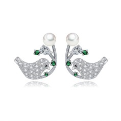Lovely Alloy/Zircon Ladies' Earrings