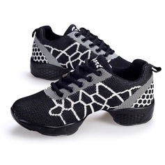Women's Fabric Sneakers Modern Sneakers With Lace-up Dance Shoes