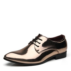 Men's Patent Leather Lace-up Derbies Dress Shoes Men's Oxfords