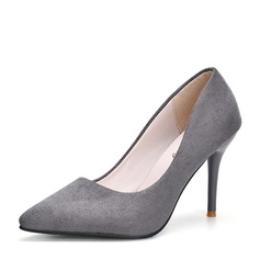 Women's Suede Stiletto Heel Pumps Closed Toe shoes (085150506)