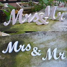"Simple/Classic/""Mr. & Mrs."" Lovely/Elegant PVC Wedding Ornaments (set of 2)/"