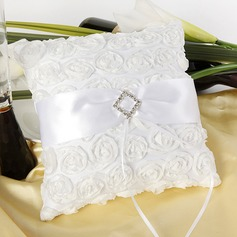 Beautiful Ring Pillow in Cloth With Rhinestones