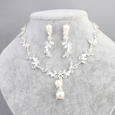 Unique Alloy With Imitation Pearl Jewelry Sets (Set of 2)