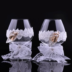Toasting Flutes With Rhinestone (Set Of 2)