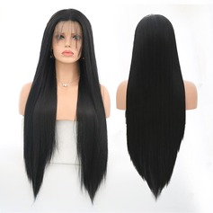 Straight Syntetisk Lace Front Parykar 360g