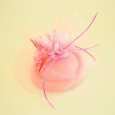 Ladies' Beautiful Feather/Net Yarn/Silk Flower/Velvet Fascinators