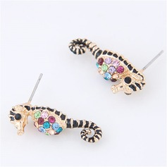 Shining Alloy Czech Stones Fashion Earrings