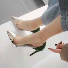 Kvinner Patentert Lær Gummi Stiletto Hæl Pumps أحذية