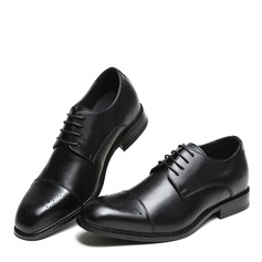 Men's Real Leather Cap Toes Lace-up Dress Shoes Men's Oxfords