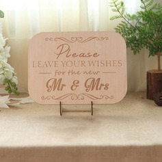 Simple/Classic Attractive Wooden Wedding Sign With Easel