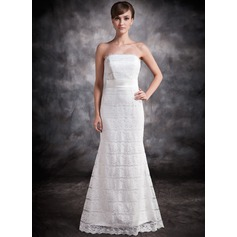 Trumpet/Mermaid Strapless Floor-Length Lace Evening Dress