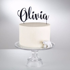 Personalized Classic Acrylic/Wood Cake Topper (119187808)