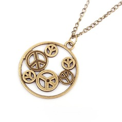 Peace Symbol Alloy Women's Fashion Necklace